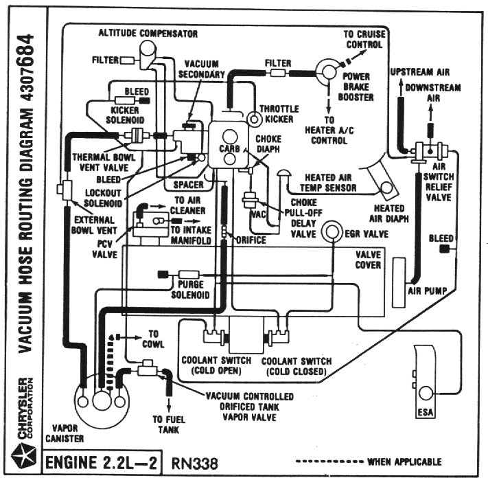 1988 plymouth reliant engine diagram
